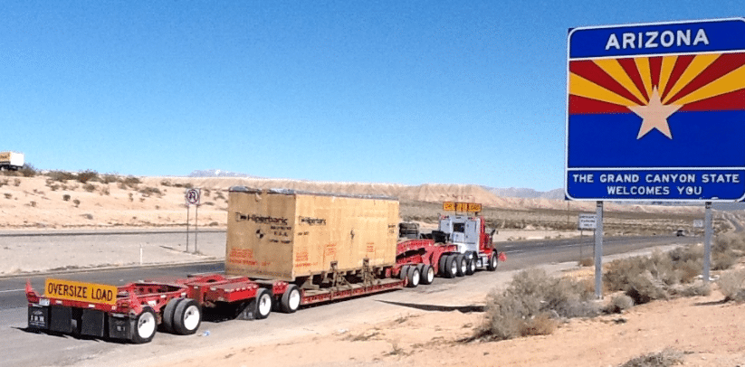 HPP machine loaded on the truck.