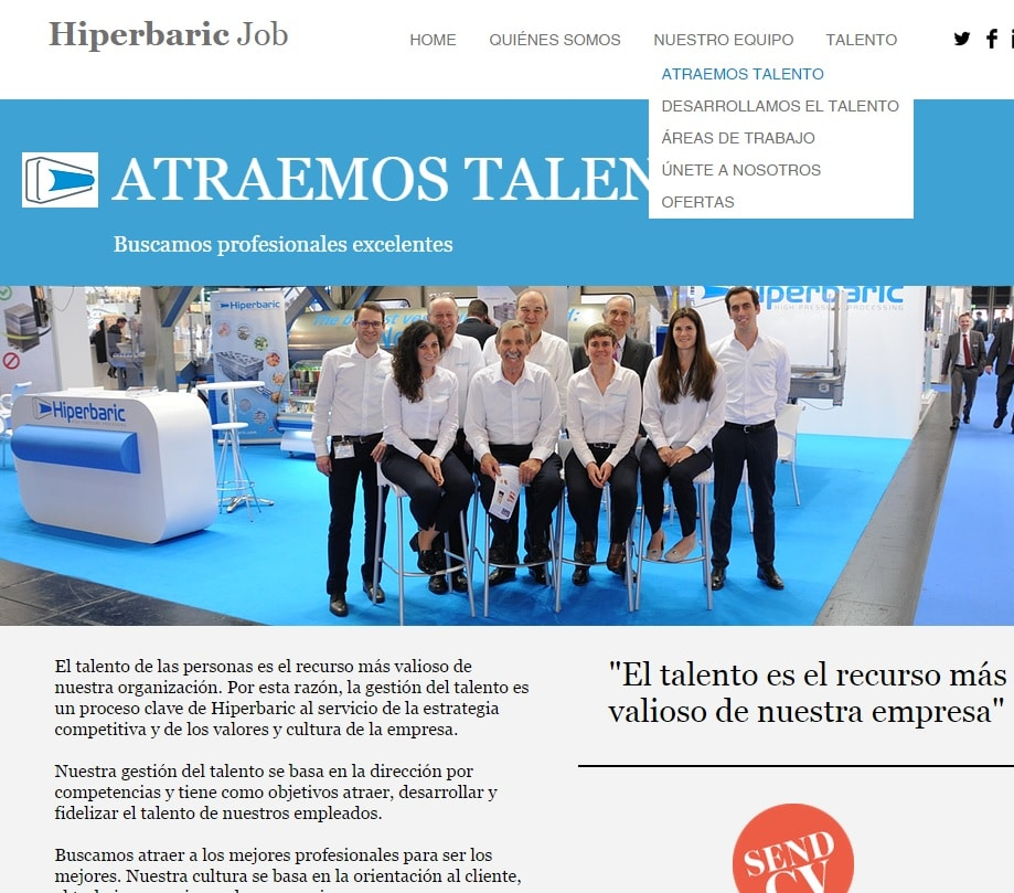 Hiperbaric, atraer talento