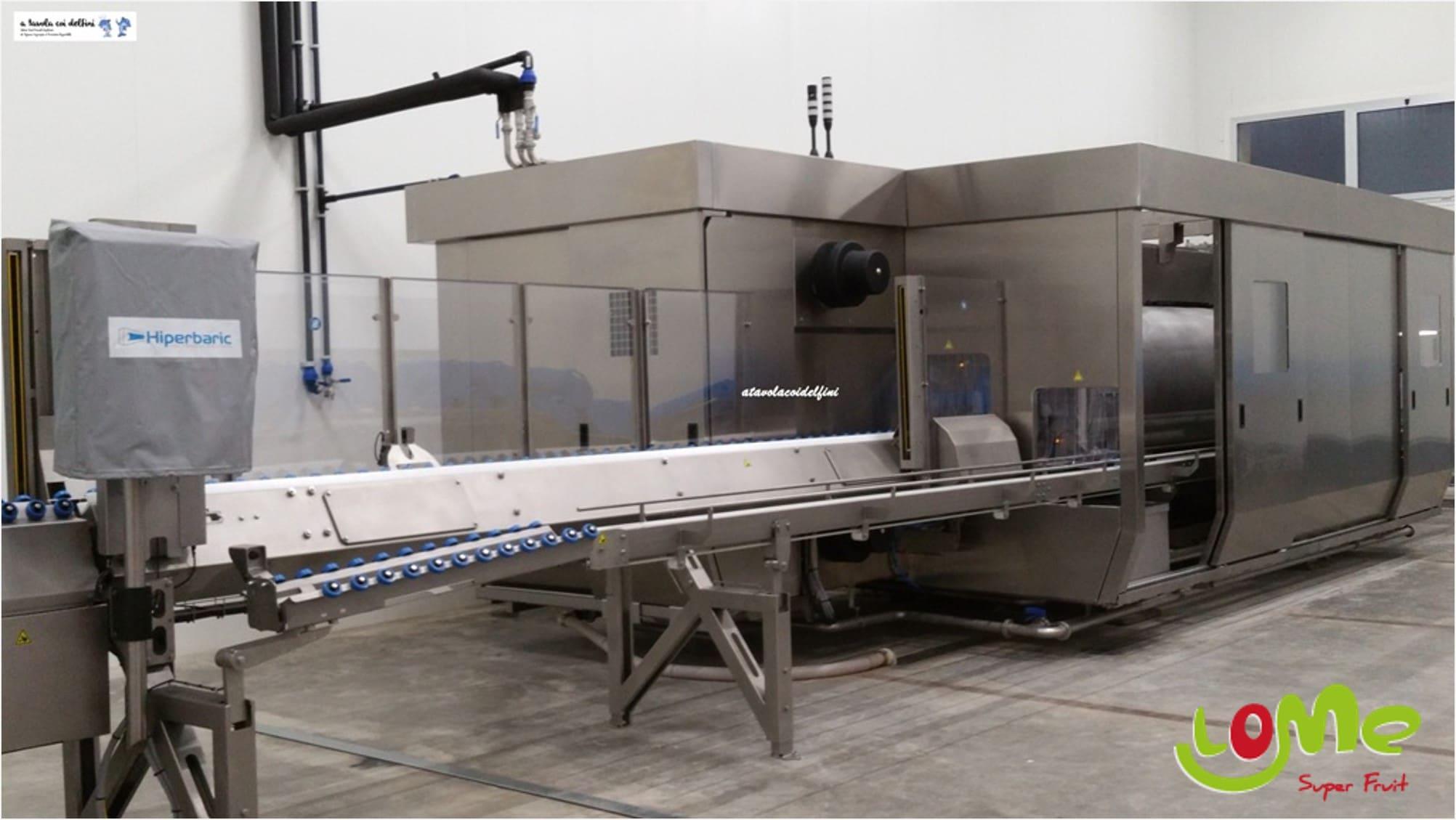 Hiperbaric 420 en las nuevas instalaciones de Masseria Fruttirossi en Castellaneta. Fuente: https://www.atavolacoidelfini.com