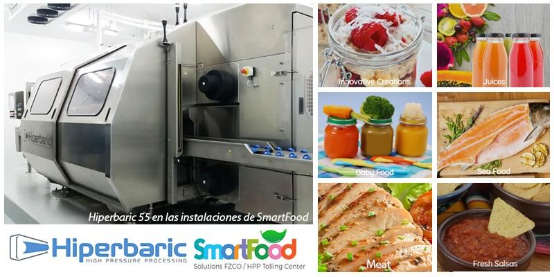 Hiperbaric 55 en las instalaciones de smartfood