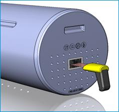 Infrared reader for baskets