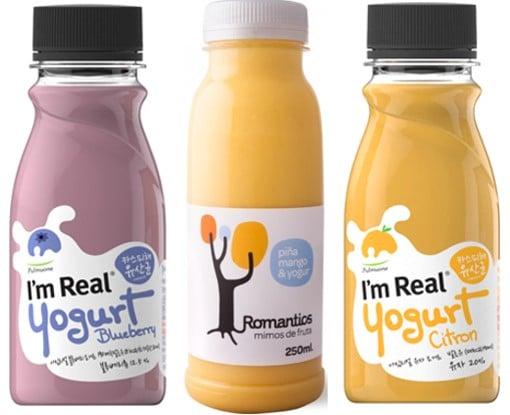 Imagen 4. Smoothies de frutas HPP con yogur como uno de sus principales ingredientes.