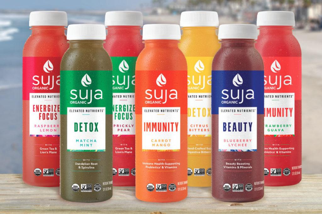 Imagen 1. Nueva línea 'Elevated Nutrients' de bebidas HPP de Suja. Fuente: Food Business News
