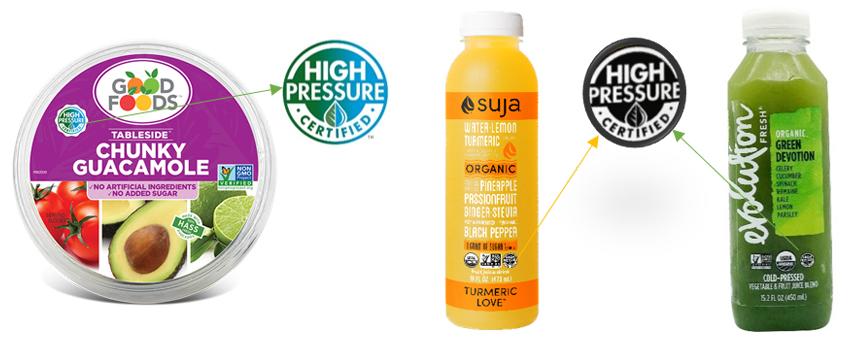 Ejemplos de la aplicación de la certificación del CPC, en Good Foods, Suja y Evolution Fresh.
