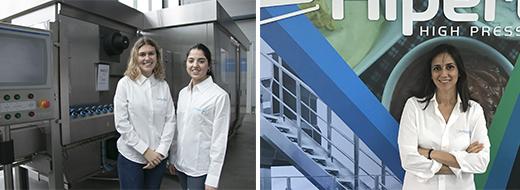 Margarida Rodrigues, experta en Biotecnología Industrial, y Patricia López, especializándose en Tecnología de los Alimentos, son las dos últimas incorporaciones de mujeres stem en la compañía. Ángeles Ruiz forma parte de la delegación de Hiperbaric en Miami.