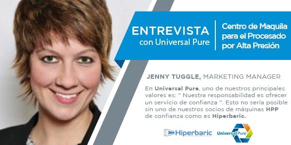 Entrevista con Jenny Tuggle, marketing manager en Universal Pure