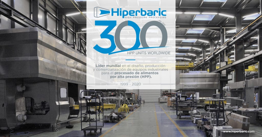Hiperbaric instala su máquina nº 300 en Calavo Growers