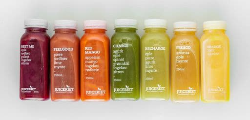 HPP juices produced by Freshco AS.