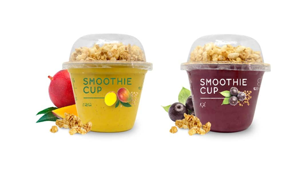 Figure 2. Mango and açaí smoothie cups from Sonatural