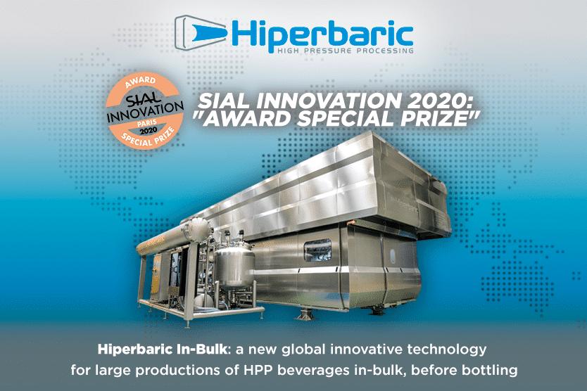 Sial reconoció la innovación mundial de Hiperbaric Bulk.