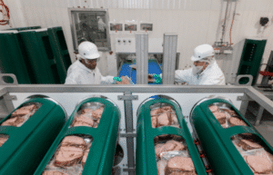 Processing of HPP uncured sliced deli meats at one of WLF plants
