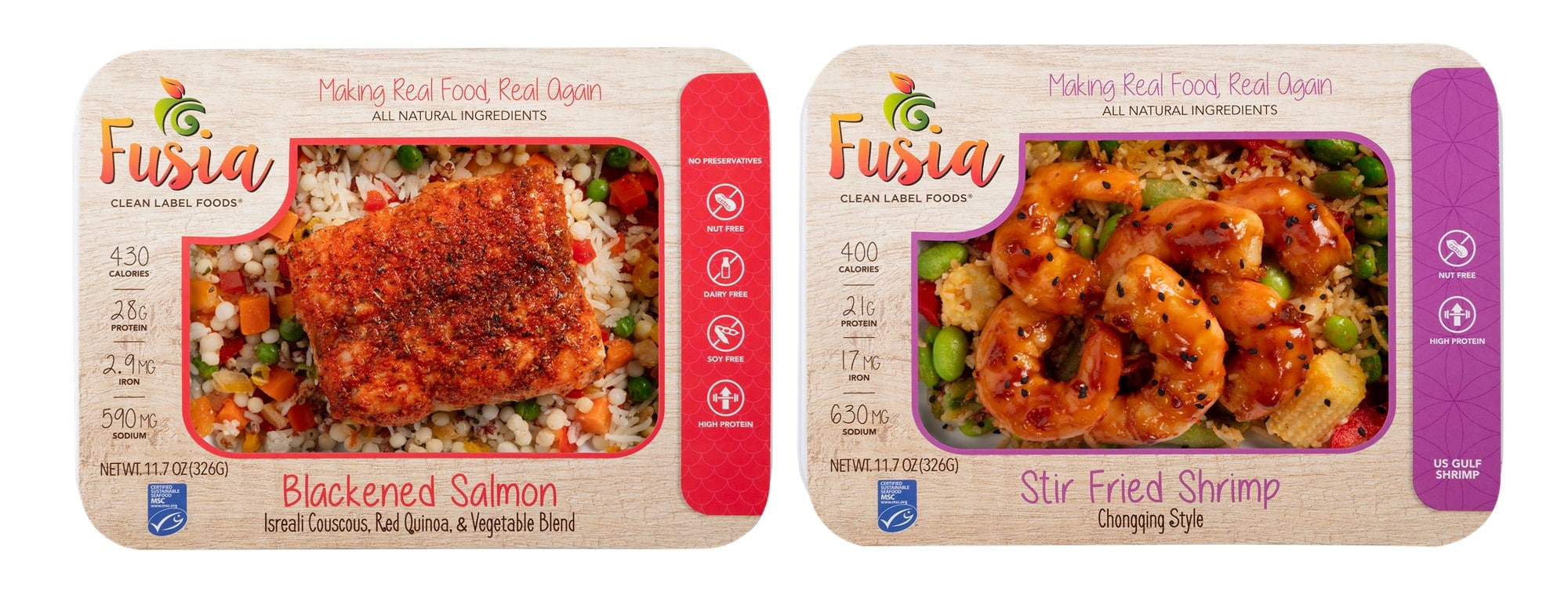 Fig. 2. HPP ready-to-eat dishes by Fusia Foods.