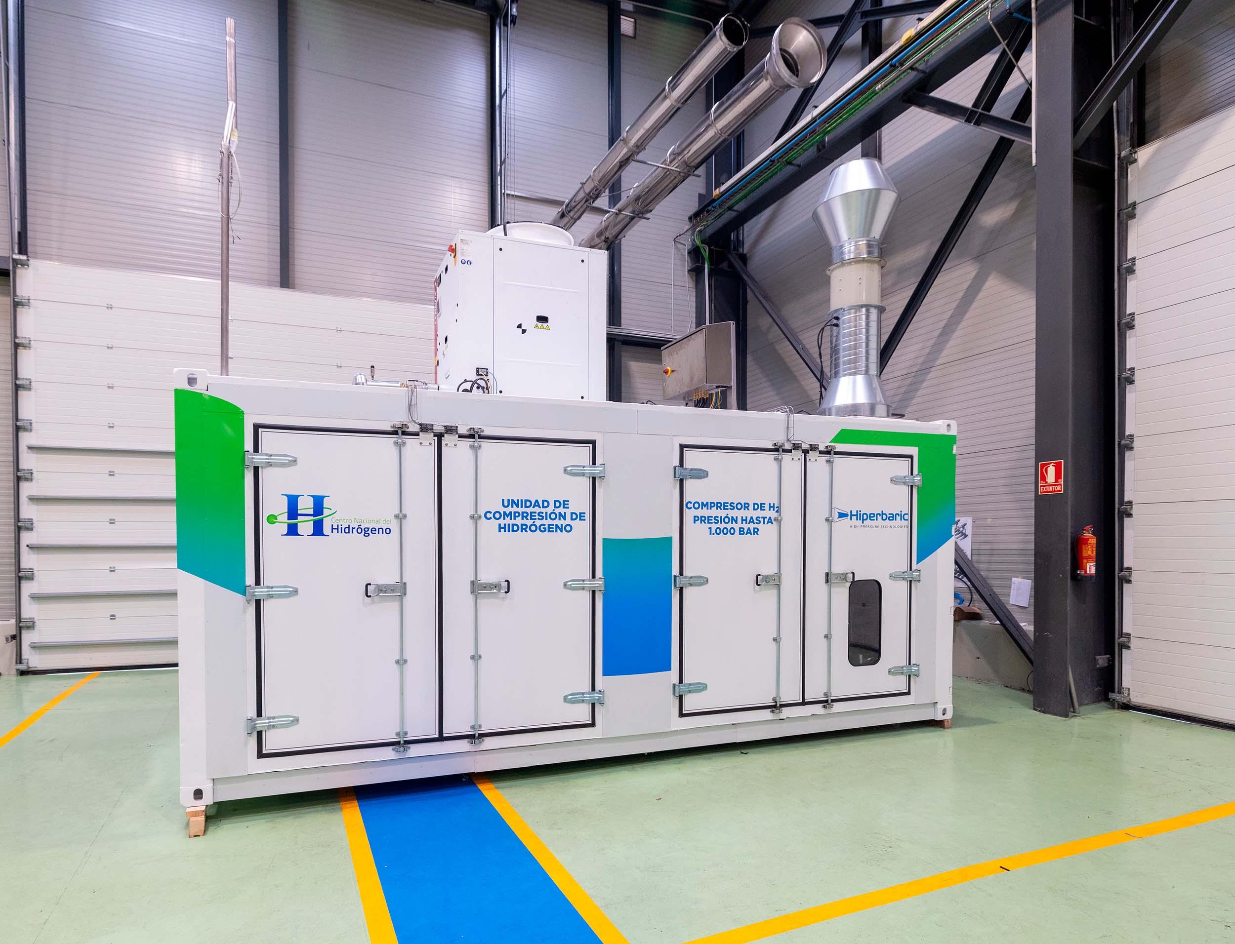 Grupo Compresor de H2 entrega en el CNH2